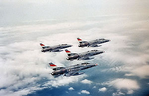 32d Air Operations Squadron - 32d Tactical Fighter Squadron F-100Cs, about 1959