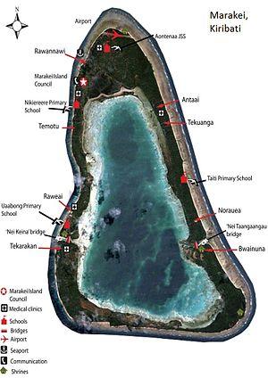 Marakei - Map of Marakei