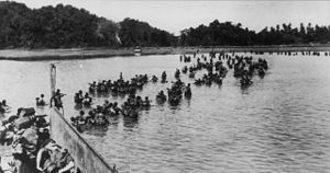 Battle of Hill 170 - 3rd Commando Brigade coming ashore during the Burma Campaign