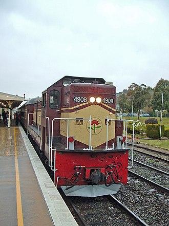 3801 Limited - 4908 at Wagga Wagga in June 2006