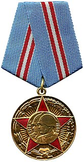 "Jubilee Medal ""50 Years of the Armed Forces of the USSR"" commemorative medal of the Soviet Union"