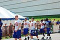 5 New York Giants players at 2007 training camp.jpg
