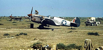 65th Aggressor Squadron - P-40 Warhawk fighters of the 65th Fighter Squadron in North Africa, 1943.