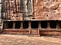 6th century entrance to Cave 3, Badami Hindu cave temple Karnataka.jpg