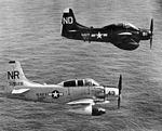 AD-5 Skyraiders from VA(AW-35) and VAW-11 in flight c1956.jpg
