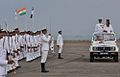 AK Antony reviewing the Parade at INA accompanied by Vice Admiral Pradeep Chauhan.jpg