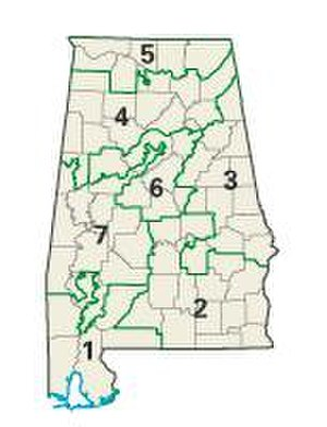 United States House of Representatives elections, 2004 - Alabama congressional districts in the 2004 elections