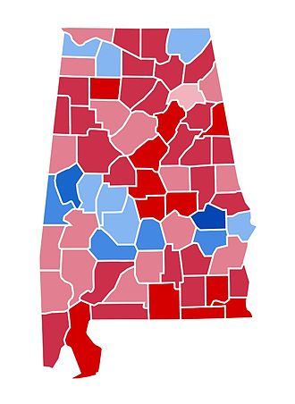 United States presidential election in Alabama, 1984 - Image: AL1984
