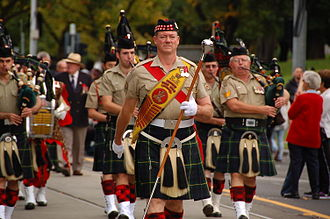 Scottish Australians - Anzac Day parade in Melbourne, 25 April 2013