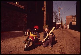 Louis Marx and Company - A child on a Big Wheel in 1973 (Rogers Park, Chicago)