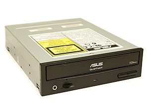 Disk storage - A CD-ROM (optical) disc drive