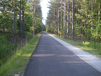 American Tobacco Trail - Typical section of the ATT in Chatham County.