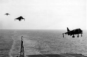 AV-8As VMA-231 approaching USS FD Roosevelt (CV-42) 1977.jpeg