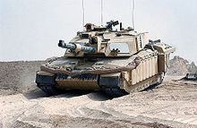 3ee6799a49 A Challenger 2 crosses into Iraq