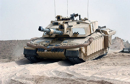 A Challenger 2 crosses into Iraq, 2003