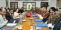 A Parliamentary Delegation from Bhutan led by the Speaker of the National Assembly of the Parliament of Bhutan, Mr. Jigme Zangpo meeting the Speaker, Lok Sabha, Smt. Sumitra Mahajan, in New Delhi on August 10, 2015.jpg