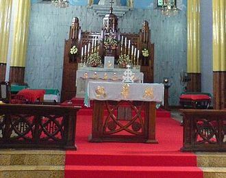 Knanaya - An unveiled tabernacle inside a Knanaya Catholic Church