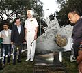 A Vikrant Memorial was unveiled by Vice Admiral SPS Cheema, Flag Officer Commanding-in-Chief, Western Naval Command & Shri Ajoy Mehta, Municipal Commissioner, Municipal Corporation of Greater Mumbai.jpg