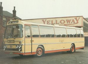 Yelloway Motor Services - Plaxton bodied AEC Reliance outside the Rochdale garage in September 1972