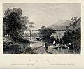 A bamboo aqueduct at Hong Kong. Engraving by H. Adlard. Wellcome V0020154.jpg