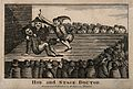 A theatrical performance of a tooth-drawer extracting a toot Wellcome V0012033.jpg