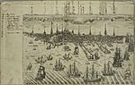 A view of the town of Boston with several ships of war in the harbour. Vol. I (NYPL Hades-118247-54194).jpg