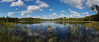 Põlva County - Image: Aalupi järv 2013 08