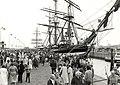 Aankomst van de zeilschepen (windjammersgrootste ter wereld), de 'Amerigo Vespucci' uit Italie, en de 'Sea Cloud' uit Bermuda, die deelnamen aan de Maritieme Manifestatie Amsterdam Sail 1980, NL-HlmNHA 54011382.JPG