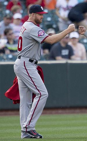 Aaron Barrett (baseball) - Barrett with the Washington Nationals