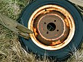 Abandoned automobile wheel in Iceland (3018173097).jpg