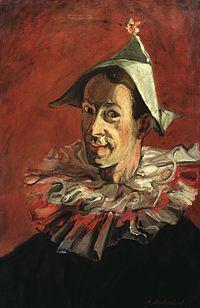 Abraham Mintchine - Portrait of the Artist as a Harlequin 1931.jpg
