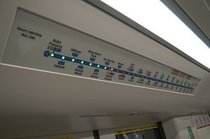Downtown MRT Line - Active Route Map information system of Downtown Line