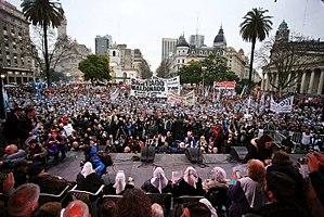 Santiago Maldonado case - A demonstration in Buenos Aires