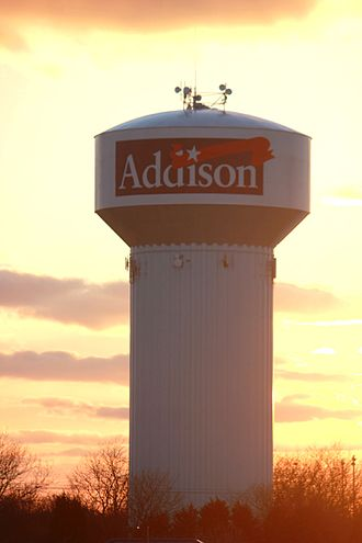 Addison, Illinois - The Addison water tower