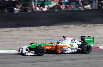 2009 Italian Grand Prix - Adrian Sutil qualified in a career-best second position, placing a Force India on the front row for the second consecutive race.