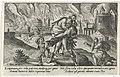 Aeneas draagt zijn vader het brandende Troje uit Metamorfosen van Ovidius (serietitel), RP-P-OB-15.984.jpg
