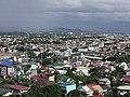 Aerial view of San Isidro, Cainta, Rizal along Felix Ave. (2017-08-22).jpg