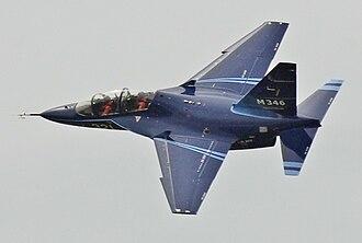 Alenia Aermacchi M-346 Master - An M-346 in flight