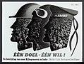 Affiche Een doel-Een wil De bevrijding van onze Rijksgenoten in Indië. Meldt u, Bestanddeelnr 120-0954.jpg
