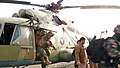 Afghan commandos practice a quick disembark from and MI-17 transport helicopter (4422196681).jpg