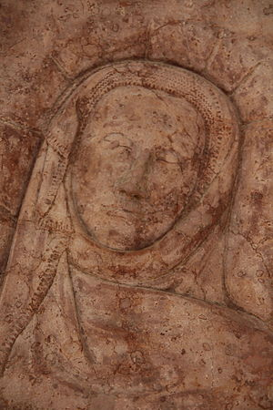 Agnes Bernauer - A detail of her epitaph in the Agnes Bernauer Chapel
