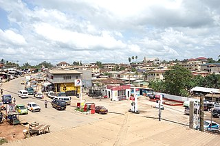 Agona Swedru Town in Central Region, Ghana