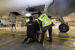 AirBaltic Bombardier CS300 mainenance (32406527163).jpg