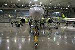 AirBaltic Bombardier CS300 mainenance (33221382545).jpg
