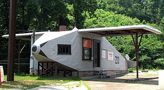 Powell, Tennessee - The Airplane Service Station in Powell is listed on the National Register of Historic Places