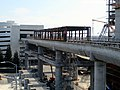 Airport Hotel station construction (2), August 2018.JPG