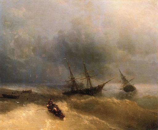 Aivasovsky Ivan Constantinovich The Shipwreck