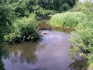 Река Акмяна около деревни Валенай