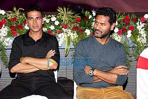 Singh Is Bliing - Filmmaker Prabhudheva and actor Akshay Kumar at the film's screening
