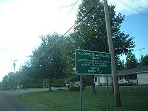 Akwesasne - Road sign in Akwesasne.